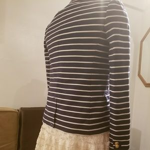J Crew  navy stripped ladies  jacket new with tags